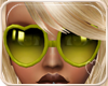 !NC Heart Glasses Lime