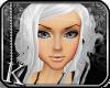 [K] White Benika Hair