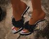 !C-Sexy Black Slippers