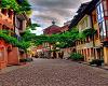 Backdrop Europe Town
