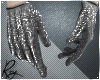 Silver Glitter Gloves