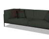 Sage and Brown Couch
