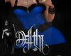 santa dress XL blue