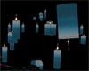blue candle light