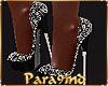 P9)Black Heels Diamonte
