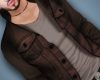 Brown Jacket N Shirt