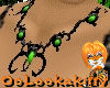 ~Oo Lime Wolf W Necklace