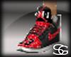 G1~red& black jordans