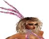 head feathers pink II