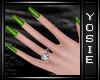 ~Y~Goth Green Nails