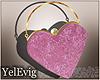 [Y] Pink heart bag