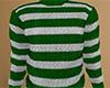 Green Striped Sweater M