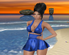 -1m- sexy blue minidress