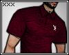 [X] Burgundy Polo.