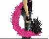 ~mkk~ hot pink cat tail