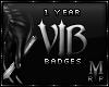 ᴍ | 1 Year VIP Badges