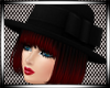 {RJ} Black Hat Goth Red