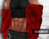 Red Layerable Fur Coat