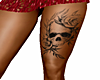 skull left thigh