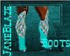 [JB] Esmerald Teal Boots