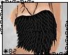 *82 Soft Fur Top Black