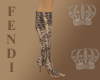 Fendi Lizard Tall Boots