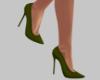 Green Spike Heel Shoes