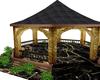 black/gold pagoda