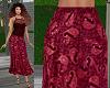 TF* Boho Skirt Wine