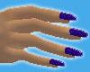 Blue Stripe Nails