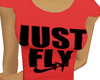 GIRL*JustFLY*red*tee