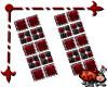 Bezel Earrings Red
