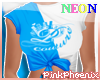 Neon B/W Logo Elena Tee