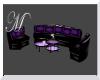 Purple Black Couch Set