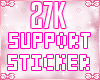 27k Support Sticker