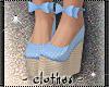 clothes - Blue Wedges
