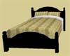 Gold & Black Bed