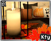 ` Autumn Candle&Leaves