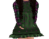 Flat Plaid green dress