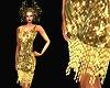 Golden sequins flapper