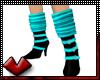 (V) Boots w Sox Teal
