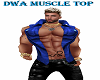DWA BLUE MUSCLE TOP