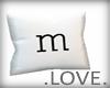 .LOVE. Letter m Pillo