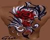 Mens Bk Rose Tattoo~
