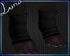 *L Blk Paw Socks