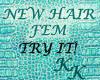 (KK)BLK HAIR 4 HATS