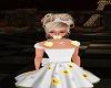 blond flower bow hair