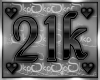 21k SUPPORT STICKER