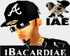 [IAE] Blk Braves Fitted