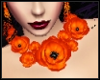 Orange Floral Necklace